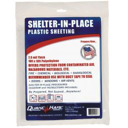 Shelter-In-Place Plastic Sheeting