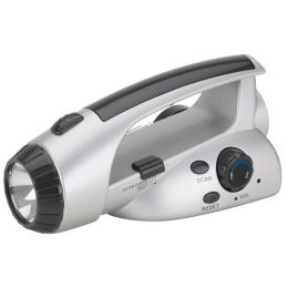Hand-Crank Powered Flashlight & FM Radio