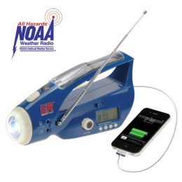 Solar / Hand-Crank Powered Flashlight & Weather Band Radio